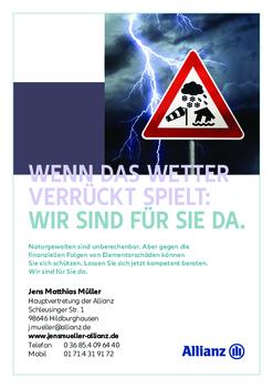 Aktuelle Broschüre von Allianz Hauptvertretung Jens Matthias Müller
