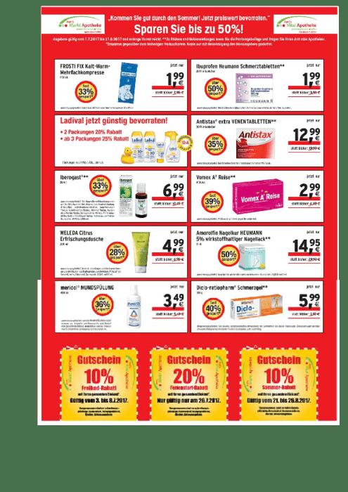 Aktuelle Broschüre von Axel´s Markt-Apotheke