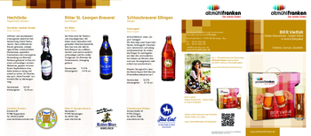 Aktuelle Broschüre von Biervielfalt Altmühlfranken