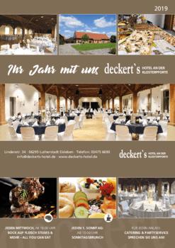 Aktuelles Prospekt von deckert's Hotel & Restaurant