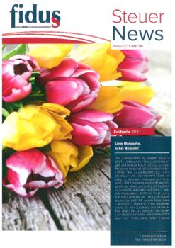Aktuelle Broschüre von Fidus Steuerberatungsgesellschaft