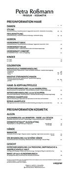 Aktuelle Broschüre von Friseur Roßmann