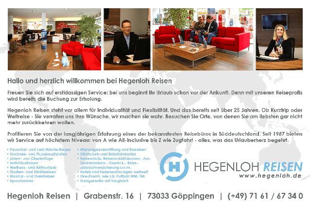 Aktuelle Broschüre von Hegenloh Reisen