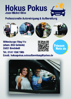 Aktuelle Broschüre von Hokus Pokus Autoaufbereitung