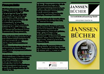 Aktuelle Broschüre von Janssen Bücher