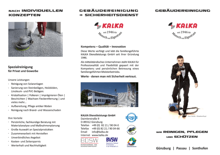 Aktuelles Prospekt von Gebäudereinigung KALKA & Shop