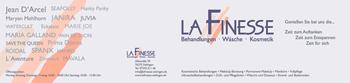 Aktuelle Broschüre von La Finesse - Wäsche - Kosmetik - Strand- und Bademoden