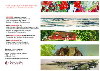 Aktuelle Broschüre von Malen am Meer – Sonja Jannichsen