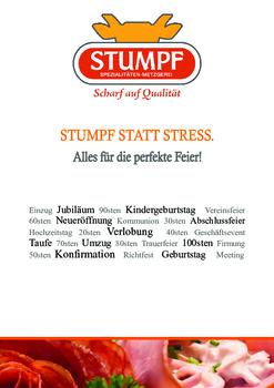 Aktuelle Broschüre von Metzgerei Stumpf