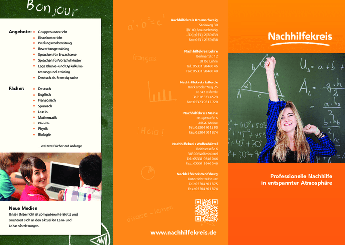 Aktuelle Broschüre von Nachhilfekreis