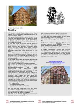 Aktuelle Broschüre von Ölmühle e.V.