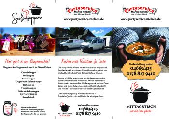 Aktuelle Broschüre von Partyservice M. Nielsen