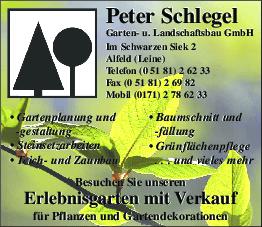 Aktuelles Prospekt von Peter Schlegel Garten- und Landschaftsbau