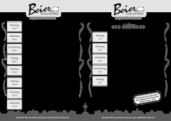 Aktuelle Broschüre von Schlachterei Beier