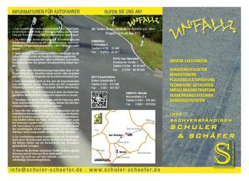 Aktuelle Broschüre von Schuler und Schäfer