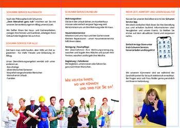 Aktuelle Broschüre von Schumm Café