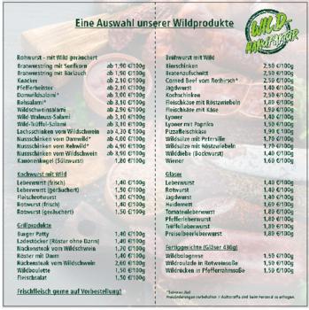 Aktuelle Broschüre von Wildmanufaktur Rosik & Wirth GbR