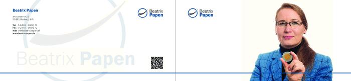 Aktuelle Broschüre von Zahlenbotschafterin Beatrix Papen