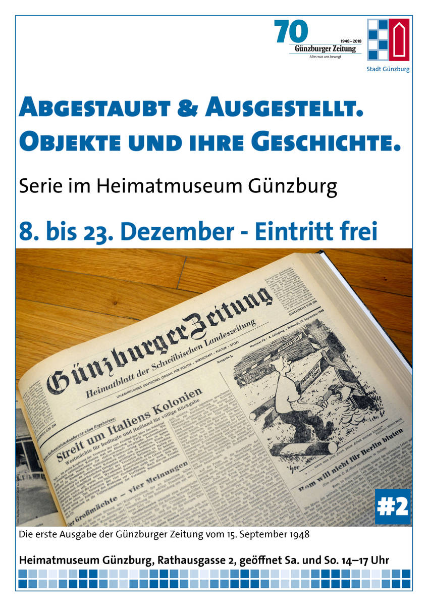 Abgestaubt & Ausgestellt #2: Die erste Ausgabe der Günzburger Zeitung vom 15.9.1948