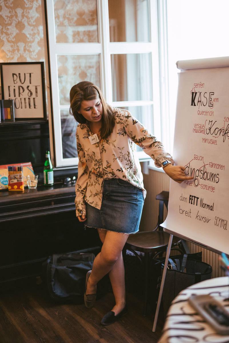 BERTZ Creative Cafe im Caffe Bozen - Grundlagen Handlettering