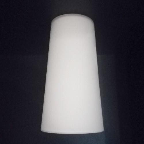 Lampen Ersatzglas 12cm Lampenschirm E14 weiß Kegel