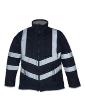 Hi Vis Kensington Jacket (with Fleece Lining) (Navy)
