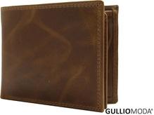 GULLIOMODA® Geldbörse im Querformat (C 490) Cognac