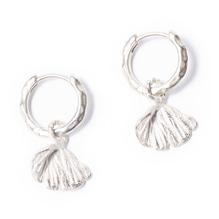 relics earring petal flower-silver