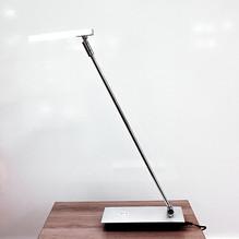 LED Schreibtischleuchte in 3 Stufen dimmbar Silber Matt