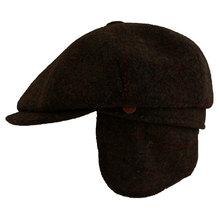 Mayser Schirmmütze Seven Plus Ohrenklappen 1313209 Harris Tweed braun