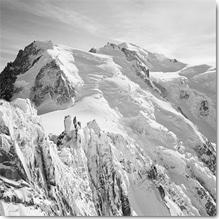 Dave Butcher, Mont Blanc, Plexiglasbild