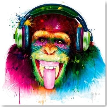 Patrice Murciano, DJ Monkey, Plexiglasbild