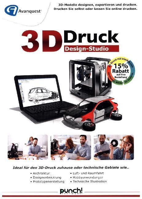 3D-Druck Design-Studio, 1 DVD-ROM