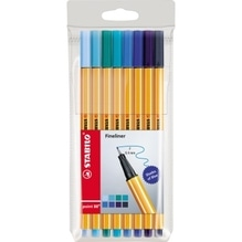 STABILO Fineliner point 88 88/8-03 Shades of Blue sortiert 8 St./Pack.
