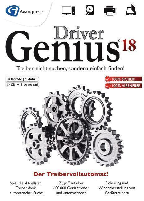 Driver Genius 18, 1 DVD-ROM