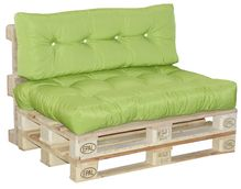 Paletten-Auflagen - Rückenkissen Freshgreen