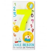 Zahlenkerze Nr. 7
