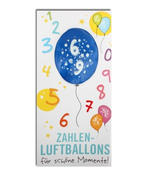 Zahlenluftballon Nr. 6