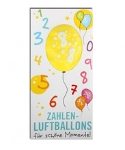 Zahlenluftballon Nr. 8