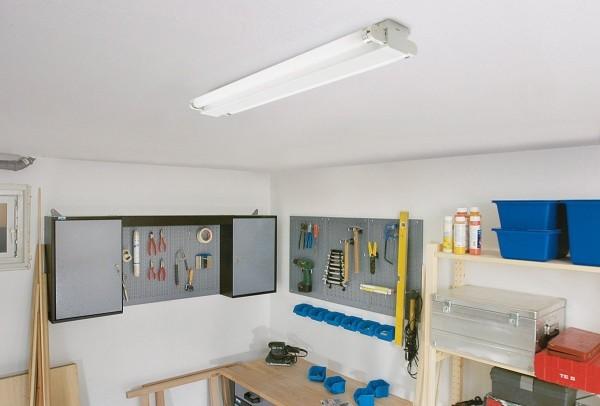 Basic Duo 2x18W Büro Deckenleuchte Lichtleiste Leuchststoffröhre freistrahlend