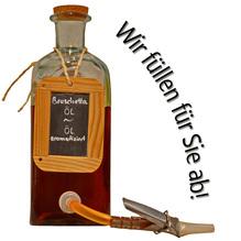 Laux 'Bruschetta Öl' Planzenöl aromatisiert, in verschiedenen Flaschenformen und Mengen!
