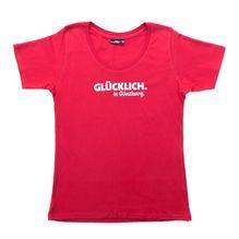 """""""GLÜCKLICH. In Günzburg."""" T-Shirt red für Damen"""