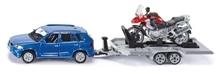 SIKU 2547 PKW mit Anhänger und Motorrad 1:55