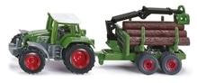 SIKU 1645 Traktor mit Forstanhänger