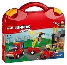 LEGO® Juniors 10740 Löschtrupp Koffer, 110 Teile