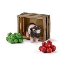 Schleich Farm World 42292 Mini-Schwein mit Äpfeln