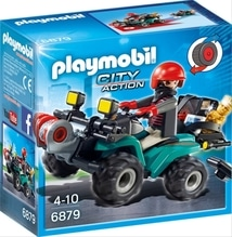 PLAYMOBIL 6879 Ganoven-Quad mit Seilwinde
