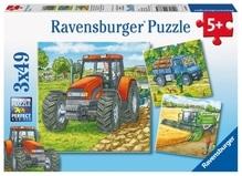 Ravensburger 93885  Puzzle Große Landmaschinen 3 x 49 Teile