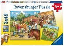 Ravensburger 92376  Puzzle Mein Reiterhof 3 x 49 Teile