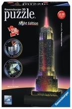 Ravensburger 125661 Puzzle 3D Empire State Building Night Edition 216 Teile